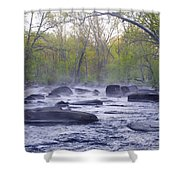 Stepping Stones Shower Curtain by Bill Cannon