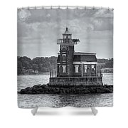 Stepping Stones Lighthouse II Shower Curtain by Clarence Holmes