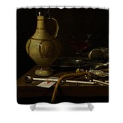 Still Life Shower Curtain by Jan Jansz van de Velde