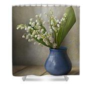 Still Life With Fresh Flowers Shower Curtain by Jaroslaw Blaminsky