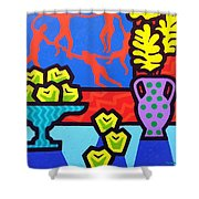 Still Life With Matisse Shower Curtain by John  Nolan