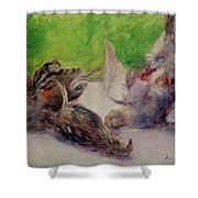 Still Life With Pheasants  Shower Curtain by Pierre Auguste Renoir