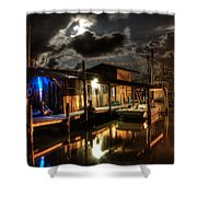 Still Marina Shower Curtain by Michael Thomas