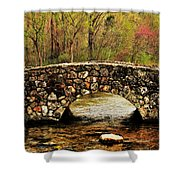 Stone Bridge In The Ozarks Shower Curtain by Benjamin Yeager