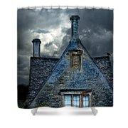 Stone Cottage In A Storm Shower Curtain by Jill Battaglia