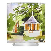 Stone Gazebo At The Maples Shower Curtain by Kip DeVore