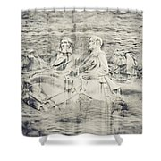 Stone Mountain Georgia Confederate Carving Shower Curtain by Lisa Russo