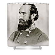 Stonewall Jackson Confederate General Portrait Shower Curtain by Anonymous