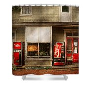 Store Front - Waterford Va - Waterford market  Shower Curtain by Mike Savad