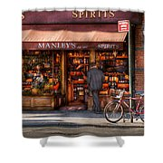 Store - Wine - NY - Chelsea - Wines and Spirits Est 1934  Shower Curtain by Mike Savad