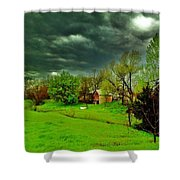 Storm Anticipation Shower Curtain by PainterArtist FIN