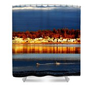 Storm At Sunset Shower Curtain by Marysue Ryan