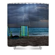 Storm Chairs Shower Curtain by Laura Fasulo