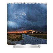 Storm Is Coming Shower Curtain by Davorin Mance