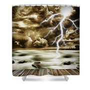 Storm Shower Curtain by Les Cunliffe