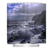 Storm Lifting At Gulliver's Hole Shower Curtain by Marty Saccone