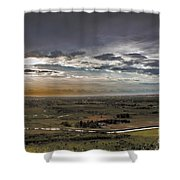 Storm Over Emmett Valley Shower Curtain by Robert Bales