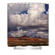 Storm Over Monument Valley Shower Curtain by Janice Rae Pariza