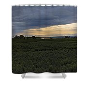 Storm Over The Yakima Valley Shower Curtain by Mike  Dawson