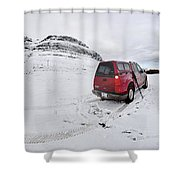 Storm Rider Shower Curtain by Evelina Kremsdorf
