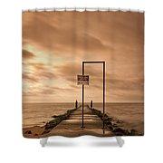 Storm Warning Shower Curtain by Evelina Kremsdorf