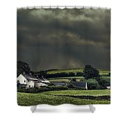 Stormy Hamlet Shower Curtain by Amanda And Christopher Elwell