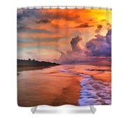Stormy Skies Shower Curtain by Michael Pickett