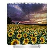 Stormy Sunrise Shower Curtain by Debra and Dave Vanderlaan