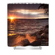Stormy Sunrise Shower Curtain by Michele Steffey
