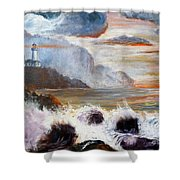 Stormy Sunset Shower Curtain by Lee Piper