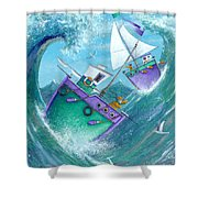 Stormy Weather Shower Curtain by Peter Adderley