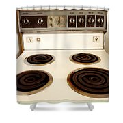 Stove Top Shower Curtain by Les Cunliffe