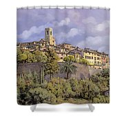 St.paul De Vence Shower Curtain by Guido Borelli