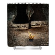 Strange Cold Feeling Shower Curtain by Stelios Kleanthous