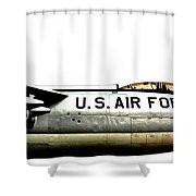 Stratojet Shower Curtain by Benjamin Yeager