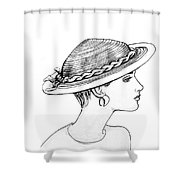 Straw Hat Shower Curtain by Sarah Parks