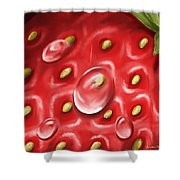 Strawberry Shower Curtain by Veronica Minozzi