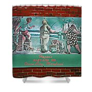 Street Ad Shower Curtain by Skip Willits