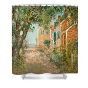 Street In Provincetown Shower Curtain by  Childe Hassam