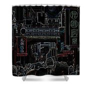 Street Scene In China Shower Curtain by Barbie Corbett-Newmin