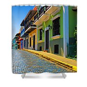 Streets Of Old San Juan Shower Curtain by Stephen Anderson