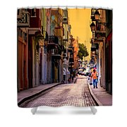 STREETS of SAN JUAN Shower Curtain by KAREN WILES