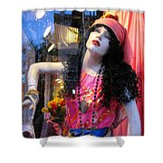 Strike A Pose Shower Curtain by Colleen Kammerer
