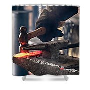 Strike While The Iron Is Hot Shower Curtain by Trever Miller