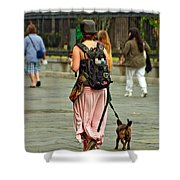 Strolling In Jackson Square Shower Curtain by Steve Harrington