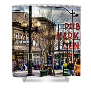 Strolling Towards the Market - Seattle Washington Shower Curtain by David Patterson