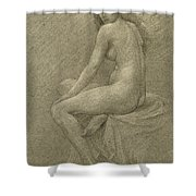 Study For Lilith Shower Curtain by Robert Fowler