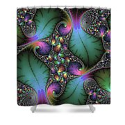 Stunning Mandelbrot Fractal Shower Curtain by Matthias Hauser