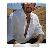 Suave Shower Curtain by Laurie Search