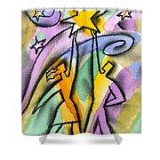 Success Shower Curtain by Leon Zernitsky